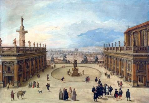 Louis de Caullery, Veduta del Campidoglio, Roma, 1621