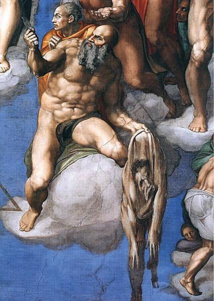 Michelangelo Buonarroti, Giudizio universale, particolare