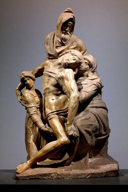 Michelangelo Buonarroti, Pietà Bandini.https://it.wikipedia.org/wiki/Pietà_Bandini#/media/File:Firenze_-_Museo_Opera_del_Duomo,_Pietà_Bandini.jpg