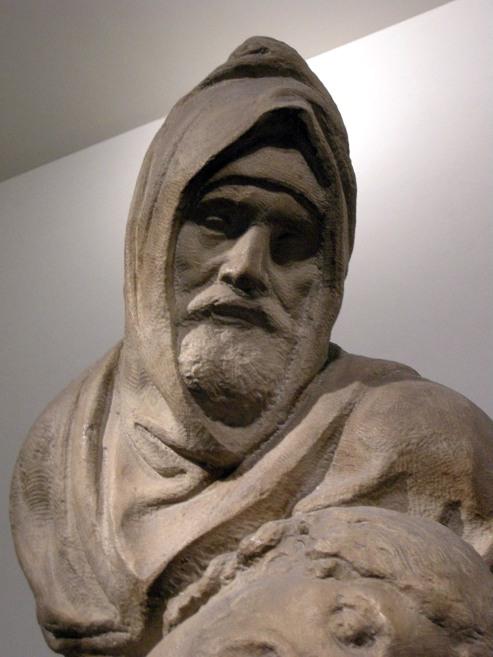 Michelangelo Buonarroti, Pietà Bandini, particolare. https://it.wikipedia.org/wiki/Pietà_Bandini#/media/File:Pietà_bandini_09.JPG