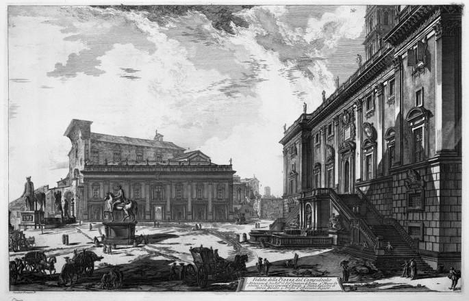 Giovanni Battista Piranesi, Veduta della Piazza del Campidoglio,1748-74