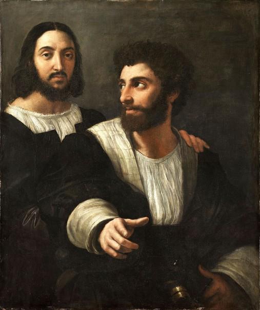 Raffaello Sanzio, Autoritratto con un amico