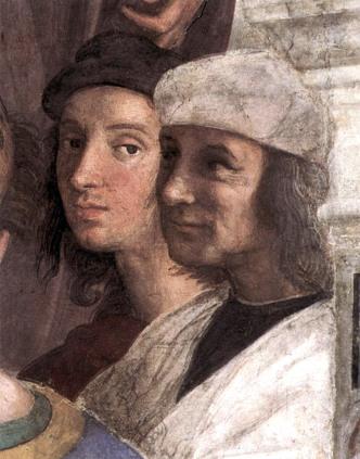 Raffaello Sanzio, Scuola di Atene, particolare