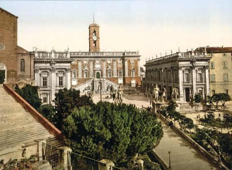 Il Campidoglio, Fotografia d'epoca, 1890-1900