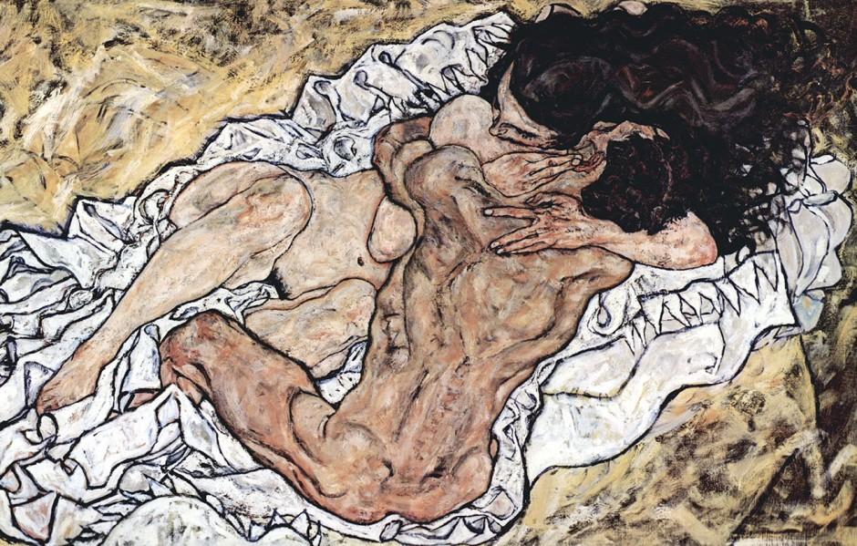 Egon Schiele, Gli amanti (l'abbraccio), 1917