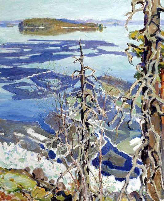 Akseli Gallen-Kallela, Disgelo sul Lago Ruovesi, 1917