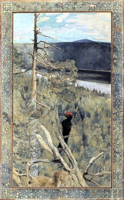 Akseli Gallen-Kallela, Grande picchio nero, 1893