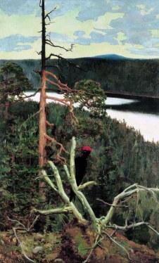 Akseli Gallen-Kallela, Il grande picchio nero, 1892-93