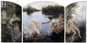 Akseli Gallen-Kallela, Il mito di Aino, trittico, 1891