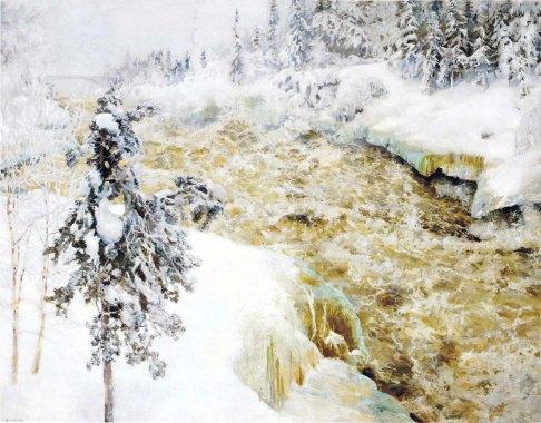 Akseli Gallen-Kallela, Imatra talvella, 1893