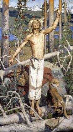 Akseli Gallen-Kallela, Kullervo maledicente, 1899