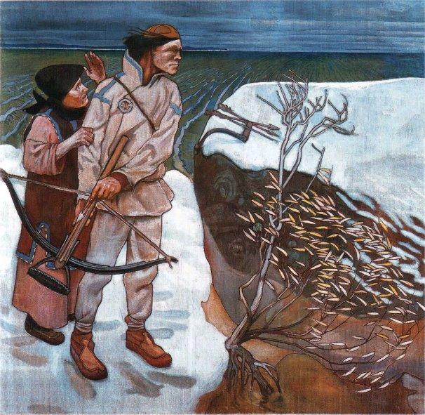 Akseli Gallen-Kallela, La vendetta di Joukahainen, 1897