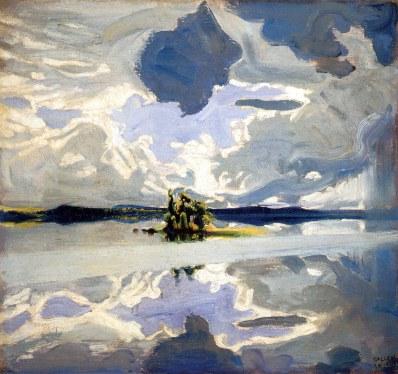 Akseli Gallen-Kallela, Nuvole su un lago, 1904-06