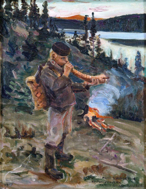 Akseli Gallen-Kallela, Pastorello a Paanajärvi, 1892