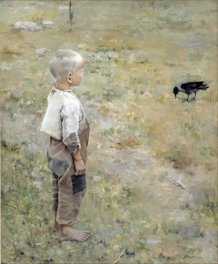 Akseli Gallen-Kallela, Ragazzo con un corvo, 1884