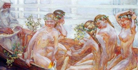 Akseli Gallen-Kallela, Väinämöisen venematka, 1909