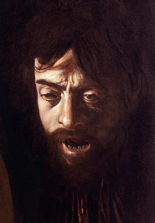 Caravaggio, David con la testa di Golia, 1609-10-part