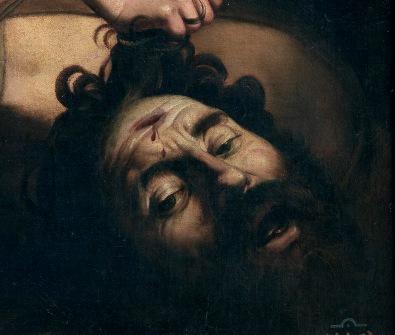 Caravaggio, Davide e Golia, 1597-98-part