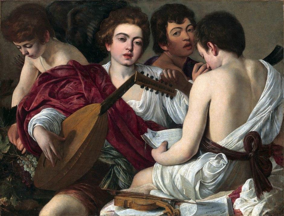 Caravaggio, I musici (Concerto), 1595