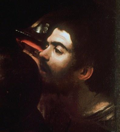 Caravaggio, la cattura di Cristo, 1602-part