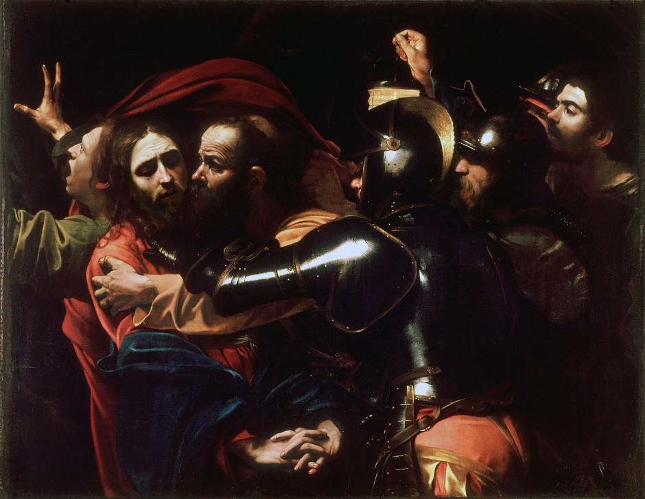 Caravaggio, la cattura di Cristo, 1602