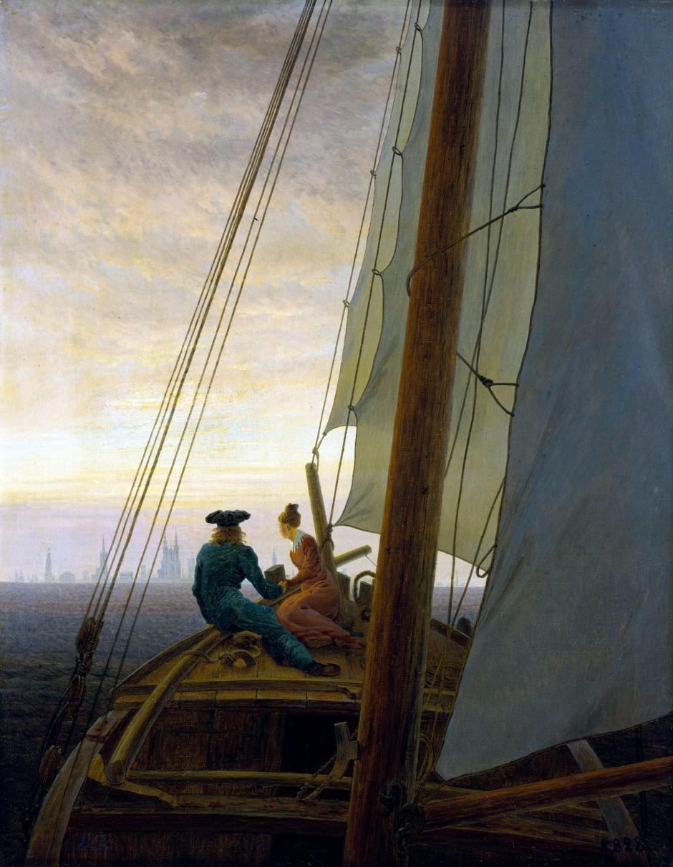 Caspar David Friedrich-Sul veliero-1818-1819