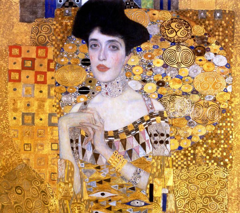 Gustav Klimt_Ritratto di Adele Bloch-Bauer I_1907-PART