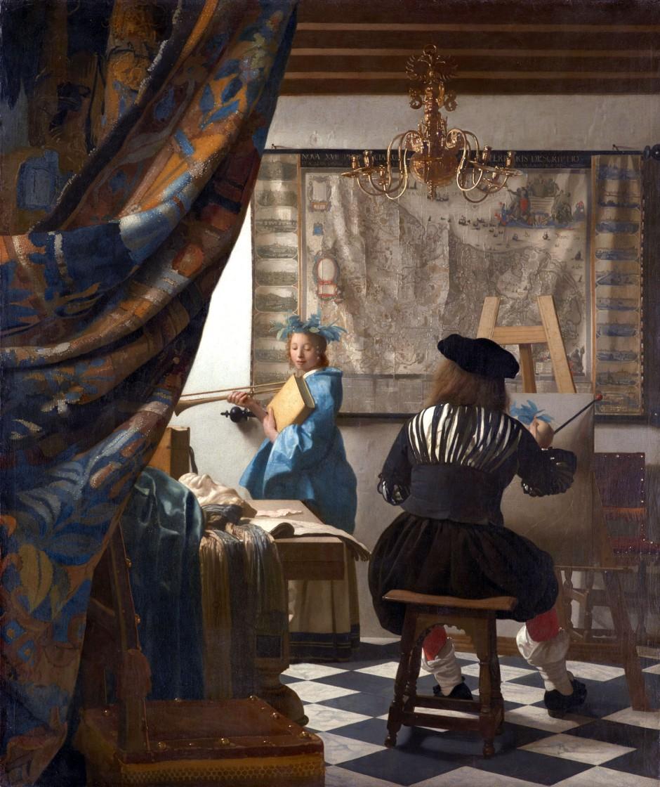 Jan_Vermeer_allegoria della pittura-1666