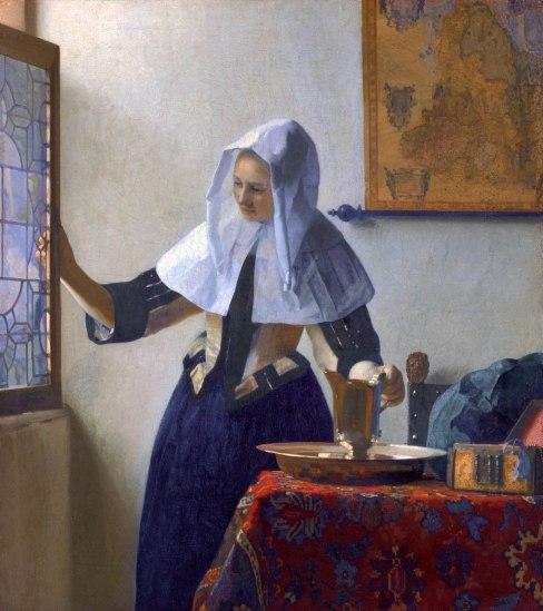 Johannes Vermeer, Donna con brocca d'acqua, 1664-65