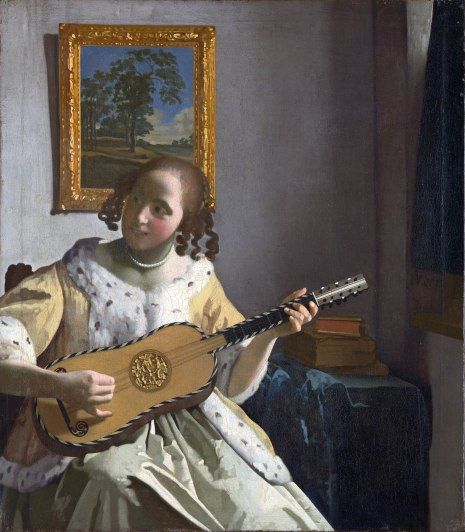 Johannes Vermeer, Suonatrice di chitarra, 1672