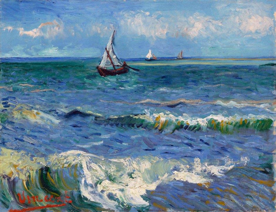 Vincent Van Gogh-Paesaggio marino vicino a Les Saintes-Maries-de-la-Mer