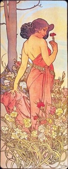 Alfons Mucha Fiori garofano img