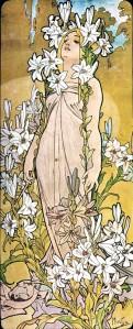Alfons Mucha fiori giglio img