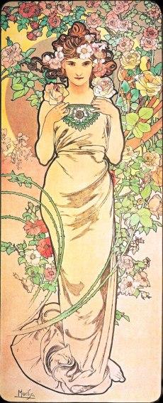 Alfons Mucha fiori rosa img