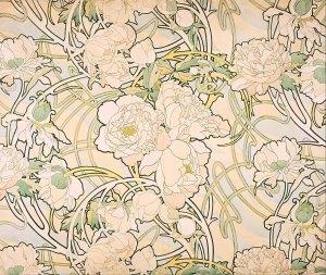 Alfons Mucha Peonie fiori img