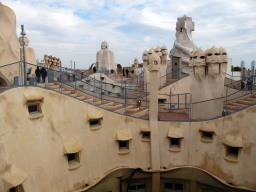 Antoni Gaudi casa Milà la Pedrera tetto img