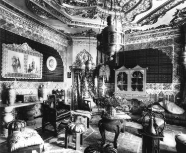 Antoni Gaudì, Casa Vicens, interno in una fotografia d'epoca