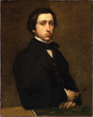 Edgar Dégas, Autoritratto, 1855