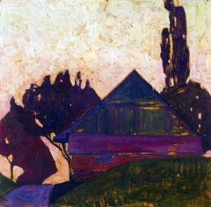 Egon Schiele, Casa tra gli alberi