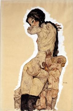 Egon Schiele, Donna con Homunculus
