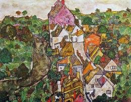 Egon Schiele, Paesaggio a Krumau