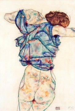 Egon Schiele, Donna che si spoglia