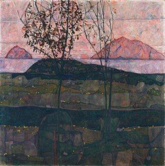Egon Schiele, Sole al tramonto, 1913