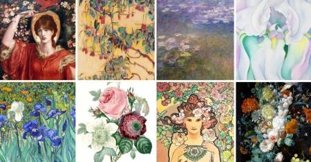 quadri famosi fiori artisti