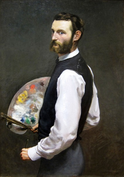 Frédéric Bazille, Autoritratto, 1865-66