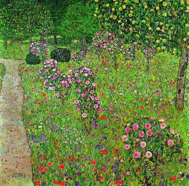 Gustav Klimt, Frutteto con giardino di rose