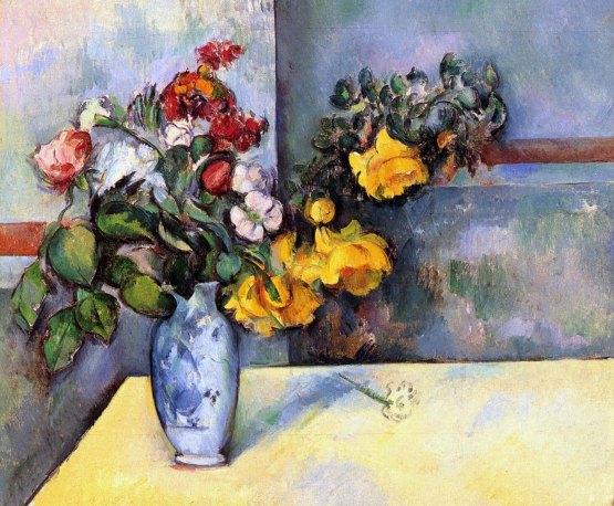 Paul Cézanne Natura morta fiori vaso img