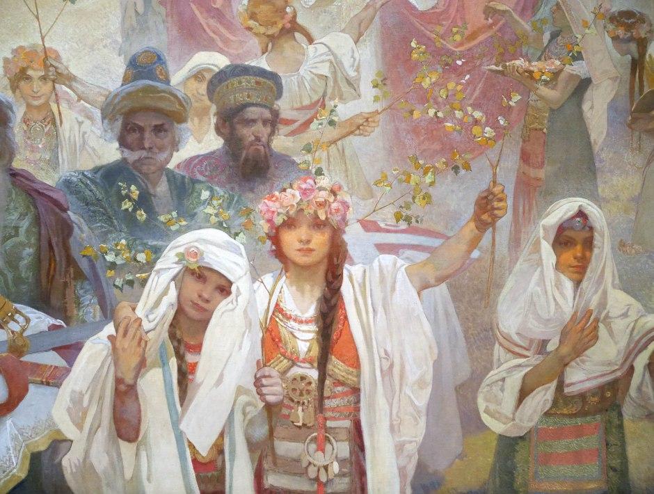 06 Alfons Mucha l'incoronazione dello zar serbo Stepan Dusan part