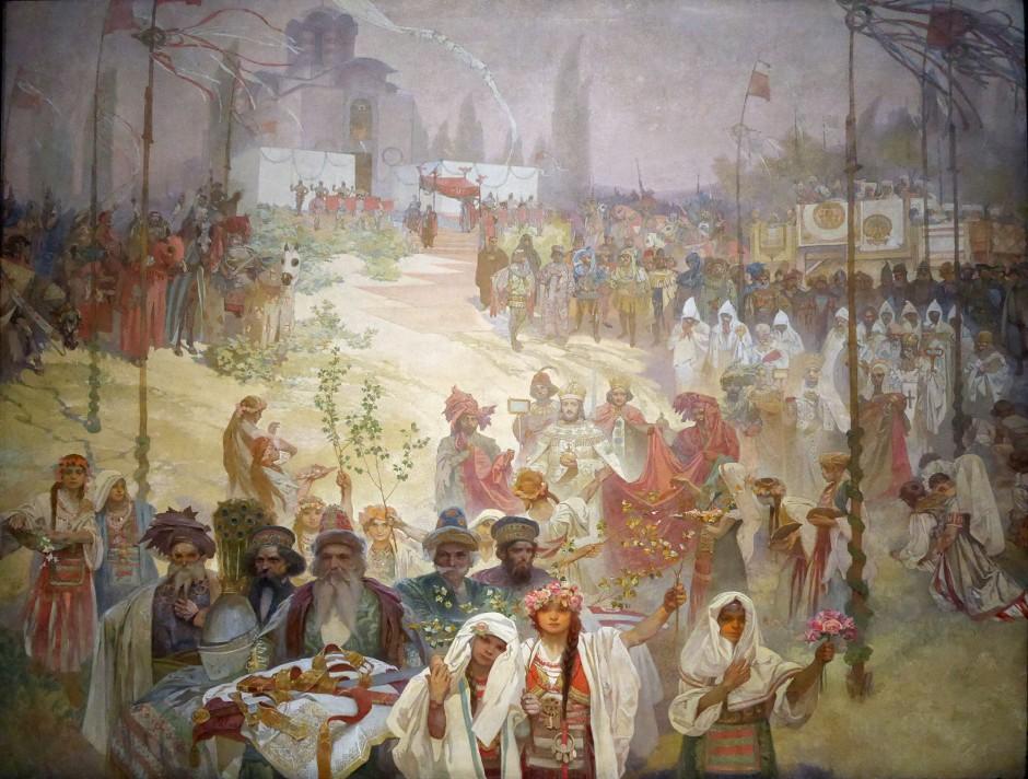 06 Alfons Mucha l'incoronazione dello zar serbo Stepan Dusan