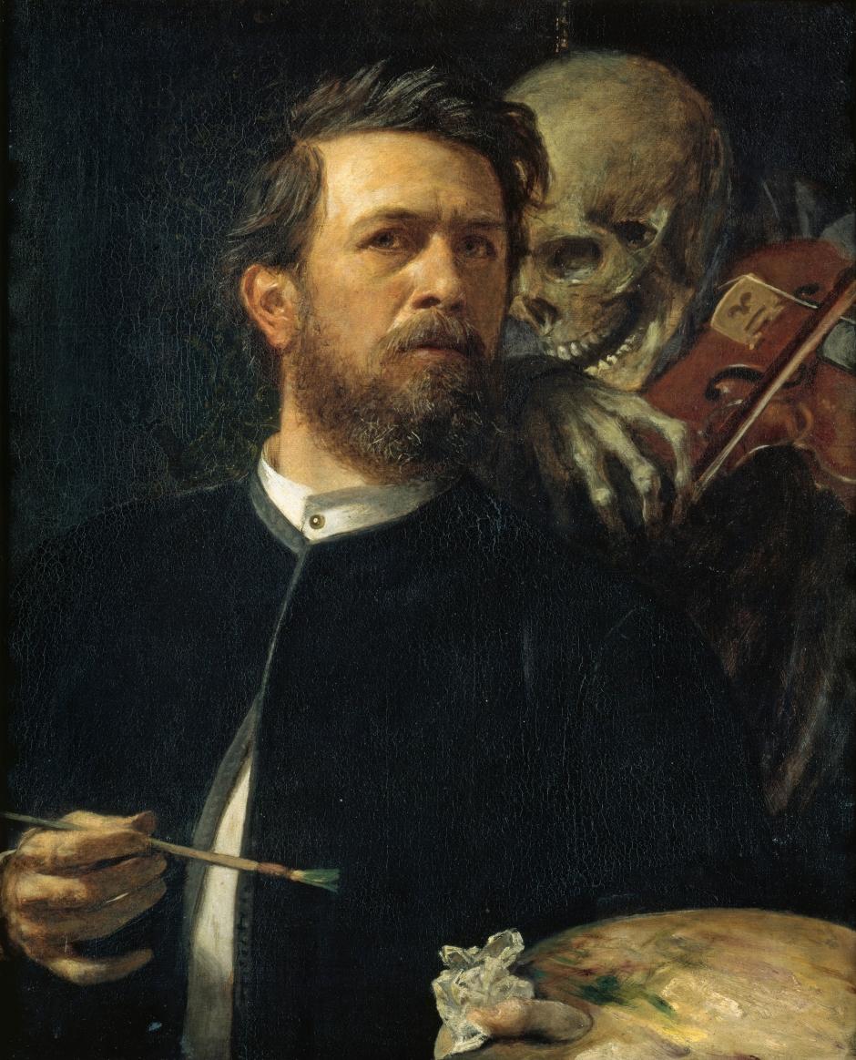 Arnold Böcklin, Autoritratto con la Morte che suona il violino